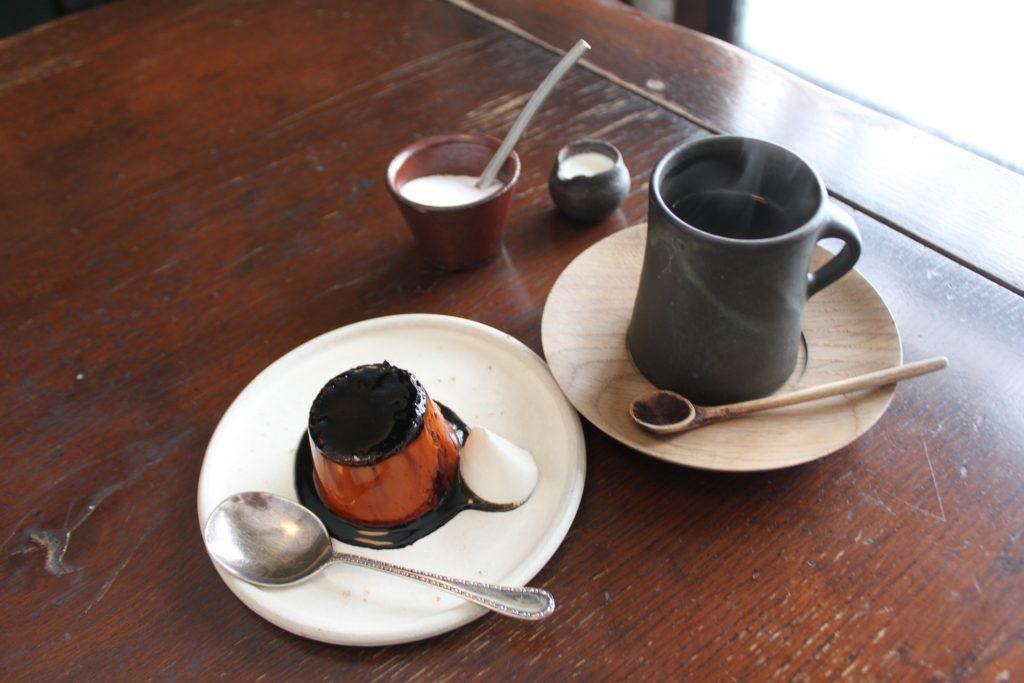 札幌・石田珈琲店のプリンとコーヒー